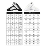 Orange Cartoon -  Drawing Pattern Design Black Low Top Canvas Shoes