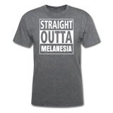 Straight Outta Melanesia Unisex Tee - mineral charcoal gray