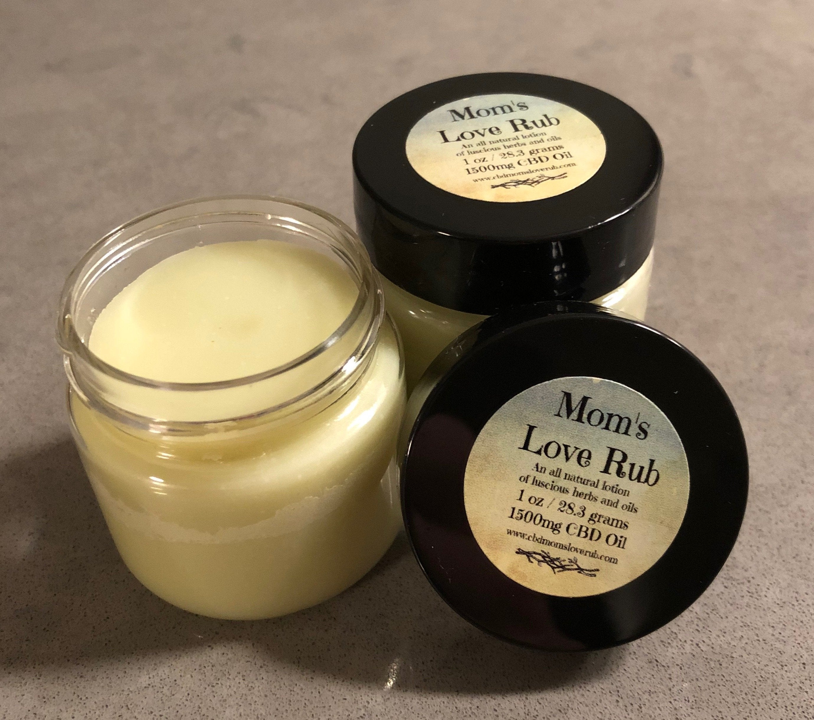 CBD Mom's Love Rub is available now!