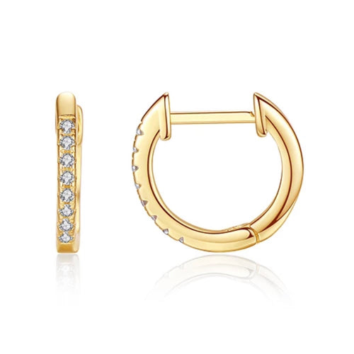 Mimi Gold Huggie Earrings