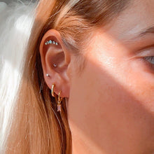 Load image into Gallery viewer, Rose Sansa Gold Earrings