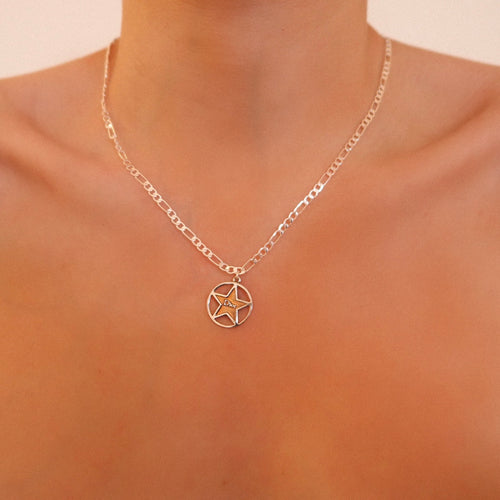 Bronze Dior Star Dainty Necklace