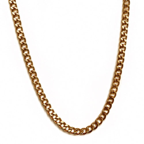 Ivy Gold Curb Chain Necklace
