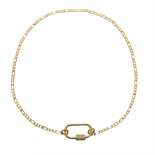 Mila Gold Clasp Dainty Necklace