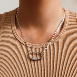 Mila Silver Clasp Dainty Necklace