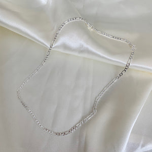 Silver Dainty Figaro Necklace