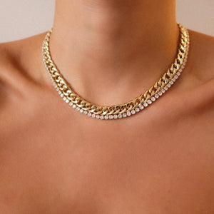 Sophia Tennis Gold Necklace