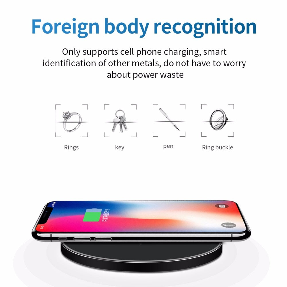 10W Fast Wireless Charger For Samsung Galaxy & iPhone