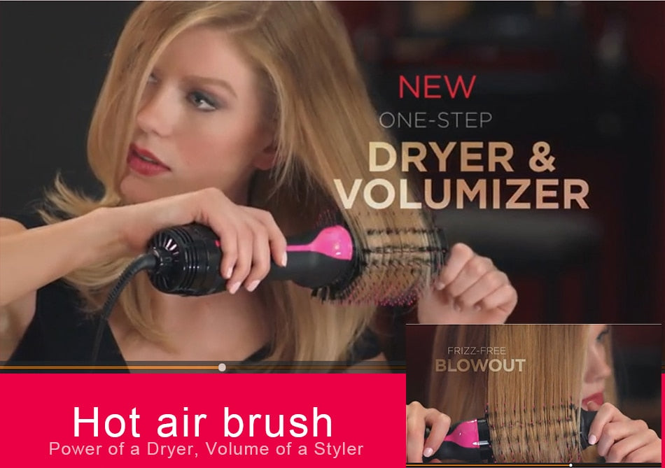 2 IN 1 One Hair Dryer & Straightener
