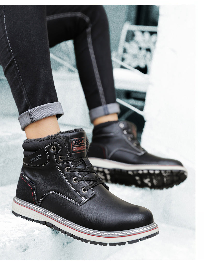 Winter Men's Genuine Leather Ankle Boots