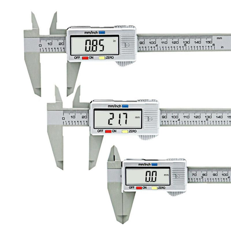 0-150mm 6inch LCD Digital Electronic Carbon Fiber Vernier Caliper Gauge Micrometer Measuring Tool VEP33