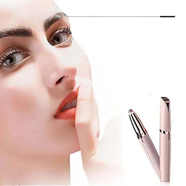 Lipstick Shape Electric Eyebrow Trimmer