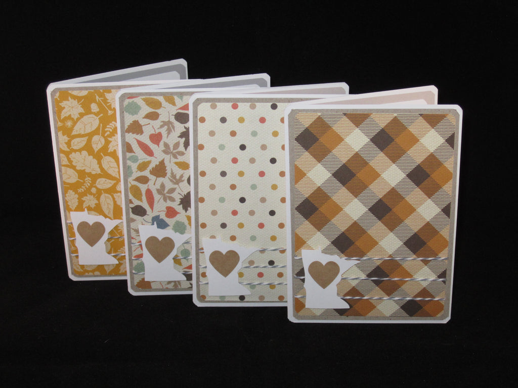 Set of 4 - MN Love Pattern Cards
