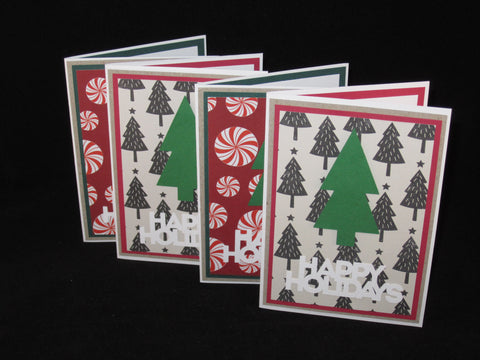 Happy Holidays Trees Card Set