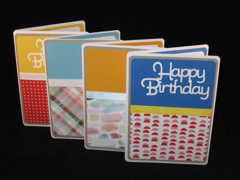 Happy Birthday | 4 Greeting Cards