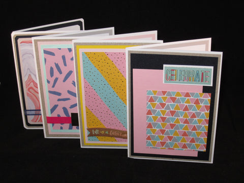 Bright Happy Greetings | 4 Greeting Cards