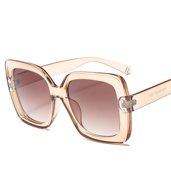 Cool Oversized Sunglasses with  Luxury Transparent Gradient