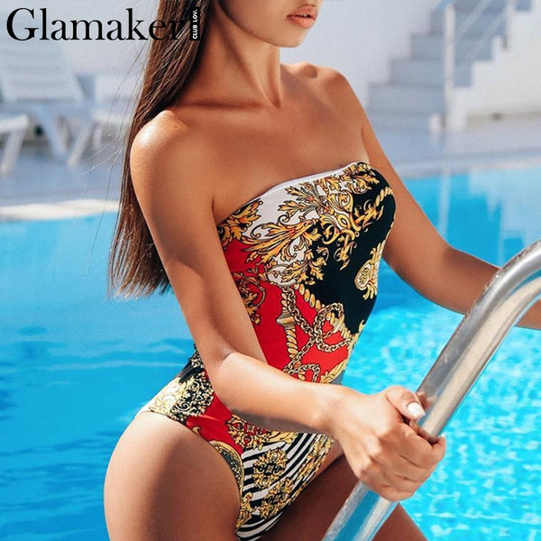 Print One piece swimsuit