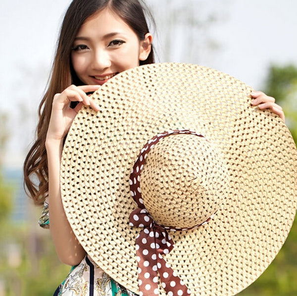 Stunning Summer Sun floppy Wide Brim beach hat