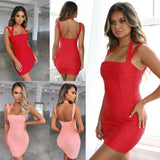 Women Sexy Folds Package Hip Dresses