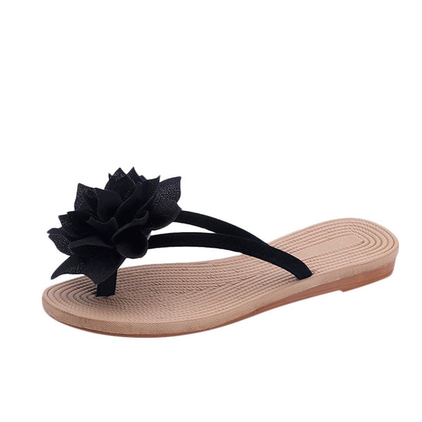 Casual Summer Flowers Style Non-Slip Flat Slippers