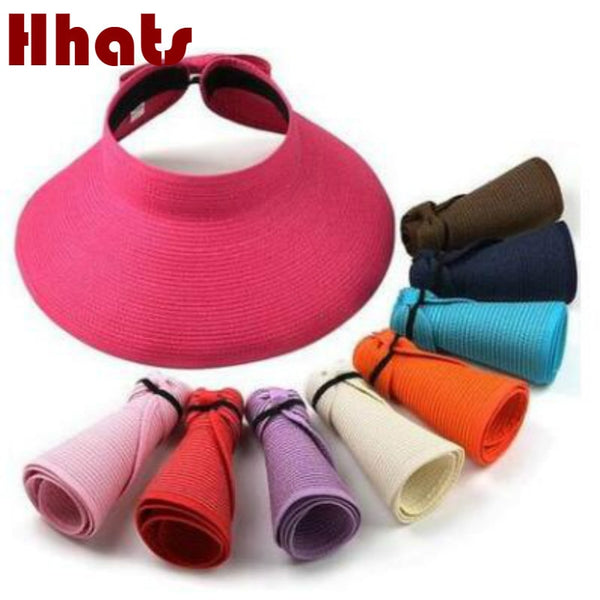 Wide Brim fashionable foldable straw hat