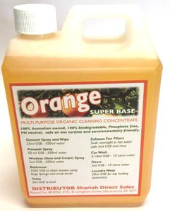 Orange Super Base Organic Concentrate Cleaner 1 Litre