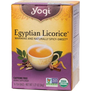 YOGI TEA Herbal Tea Bags  Egyptian Licorice 16