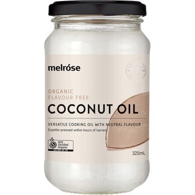 MELROSE Flavour Free Coconut Oil  Organic 325ml