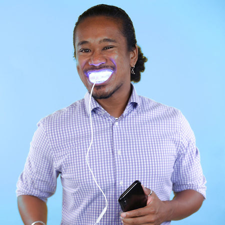 The Blue LED Light to get Whiter Teeth