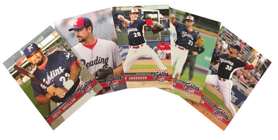 Reading Fightin Phils Fightins 2017 Updated Team Card Set