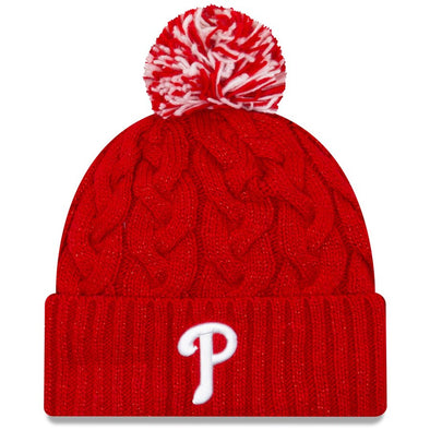New Era Red Knit Phillies Beanie