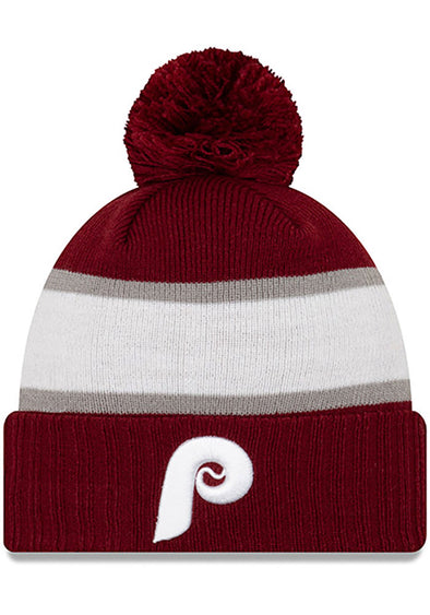 New Era Maroon Knit Phillies Beanie