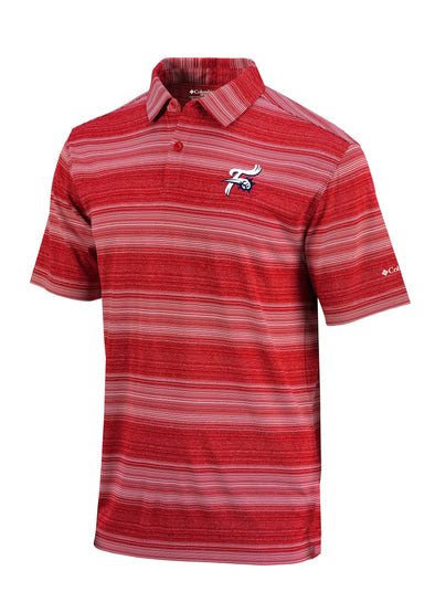 Reading Fightin Phils 2019 Columbia Omni Wick Slide Red Polo
