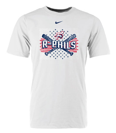 Reading Fightin Phils Nike White 4th of July T-Shirt 2019