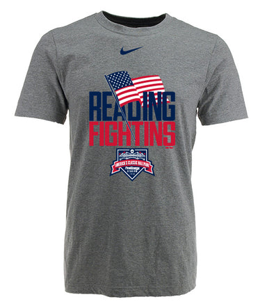 Reading Fightin Phils Nike 4th of July Grey T-Shirt  2019