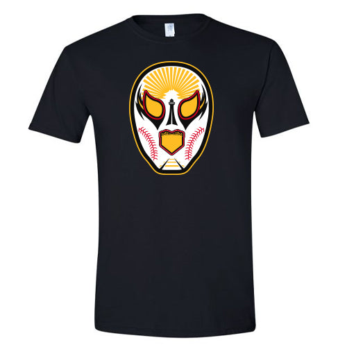 Luchadores de Reading Mask Black T-Shirt