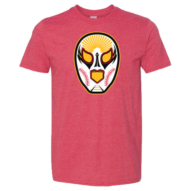 Luchadores de Reading Mask Red Heathered T-Shirt