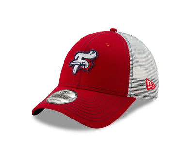 Reading Fightin Phils New Era 9Forty Adjustable Red Trucker Cap