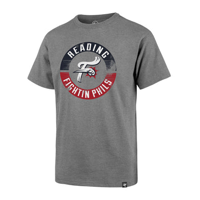 Youth Grey Circle Reading Fightin Phils Tee