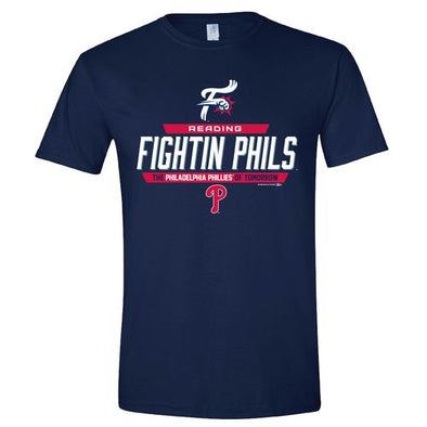Reading Fightin Phils Fightins Navy Affiliate Phillies T-Shirt