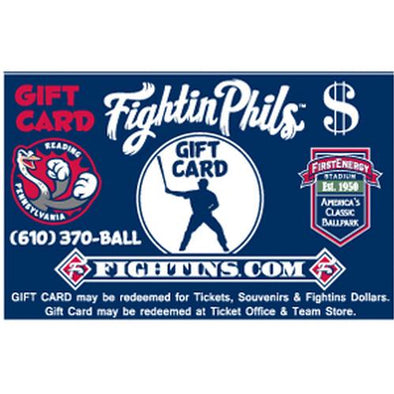 Reading Fightin Phils Fightin Phils Gift Cards - $20-$200
