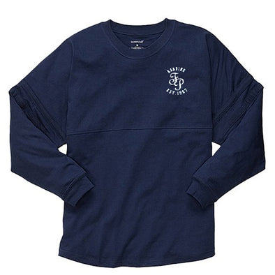 Women's Navy Long Sleeve Pom Pom Jersey