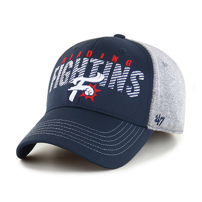 '47 Gray and Navy Fightins Stretch Fit Cap