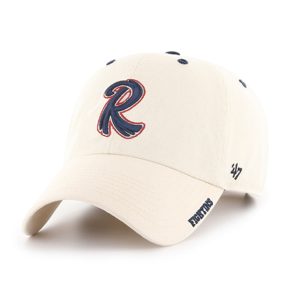 47 Clean Up -Adjustable Feathered R  Tan Cap