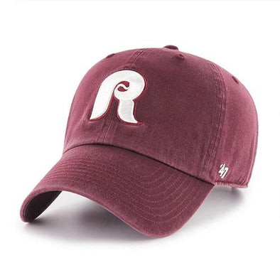 Reading Fightin Phils '47 Clean Up - 1980s Maroon Cap