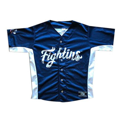 Reading Fightin Phils Youth Home Navy Blue Jersey