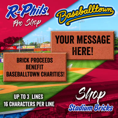 Reading Fightin Phils Personalized Stadium Bricks