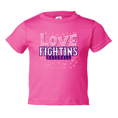 Toddler Pink Love Fightins T-Shirt