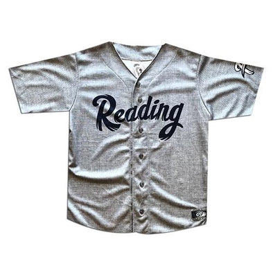 Reading Fightin Phils Adult Gray Road Jersey